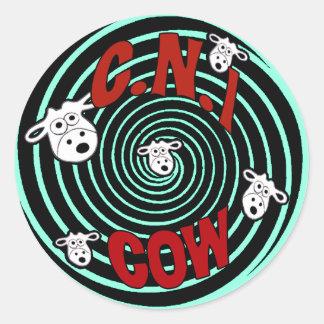 C.N.i牛2011年のロゴのステッカー ラウンドシール