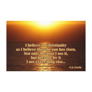 C.S. ルイスのキリスト教の引用文 キャンバスプリント