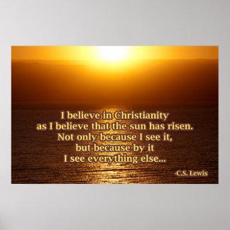 C.S. ルイスのキリスト教の引用文 ポスター