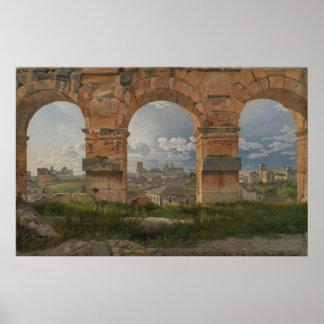 C.W. Eckersberg - Colosseumのアーチの眺め ポスター