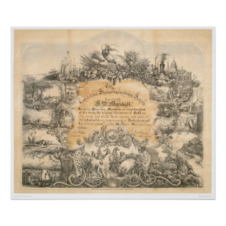 CA.農業の社会の証明書(0058A) ポスター