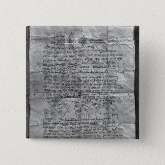 Cabalisticお守り 5.1cm 正方形バッジ