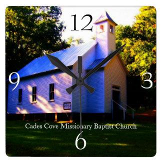 Cadesの入江の宣教師バプティスト教会の柱時計 スクエア壁時計