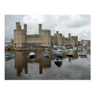 Caernarfonの城の郵便はがき ポストカード