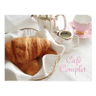 Café Completのコンチネンタル・ブレックファーストの郵便はがき ポストカード