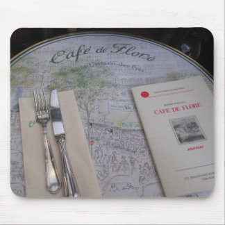Cafe de Flore、パリ、フランス-食器セット、メニュー マウスパッド