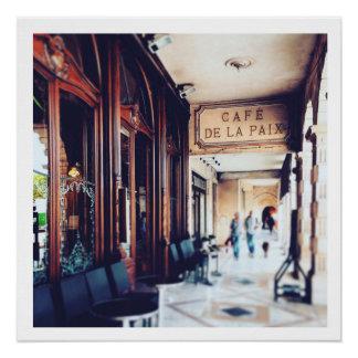 Cafe de la Paixのラロシェルの市場2014年 ポスター