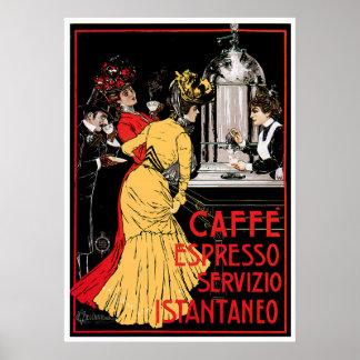 Caffeのエスプレッソのヴィンテージのコーヒー飲み物の広告の芸術 ポスター