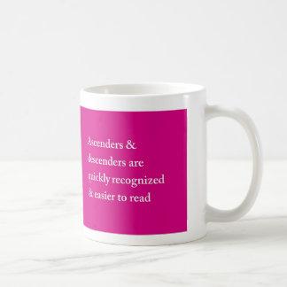 Caffeinatedのタイポグラフィ コーヒーマグカップ