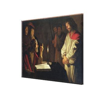 Caiaphas (キャンバスの油)の前のキリスト キャンバスプリント