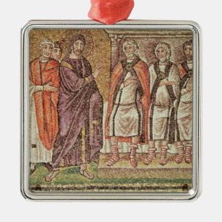 Caiphusの前のイエス・キリスト メタルオーナメント