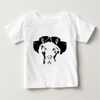 Cajaの白人のグレートデーン ベビーTシャツ