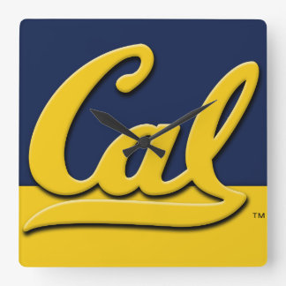Calのロゴ スクエア壁時計
