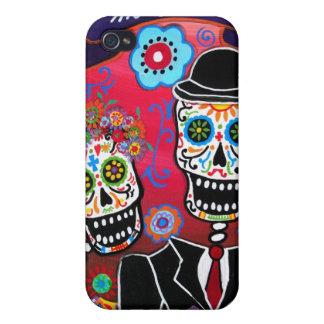 calaveraのDIA DE LOS MUERTOSのカップル iPhone 4 Case