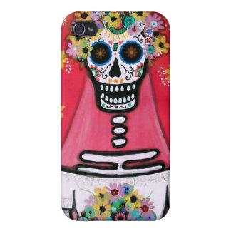 calaveraのDIA DE LOS MUERTOSの花嫁 iPhone 4/4S Case