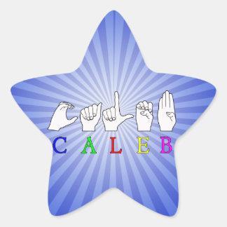CALEB ASL FINGERSPELLEDの男性の名前 星シール
