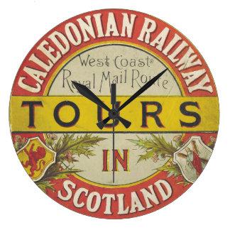 Caledonia鉄道のスコットランドの時計 ラージ壁時計