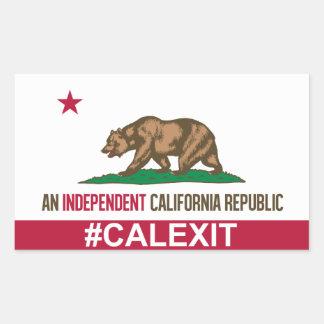 CalExitのステッカー 長方形シール
