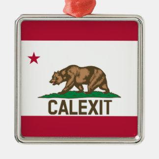 CALEXITカリフォルニアくまの旗 メタルオーナメント