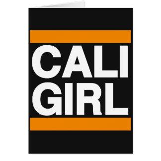 Caliの女の子のオレンジ カード