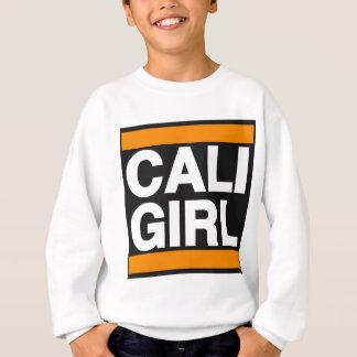 Caliの女の子のオレンジ スウェットシャツ