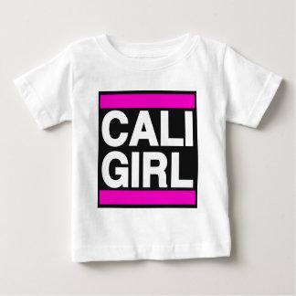 Caliの女の子のピンク ベビーTシャツ