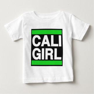 Caliの女の子の緑 ベビーTシャツ
