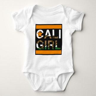 Caliの女の子Repのオレンジ ベビーボディスーツ
