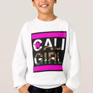 Caliの女の子Repのピンク スウェットシャツ