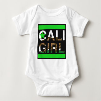 Caliの女の子Repの緑 ベビーボディスーツ