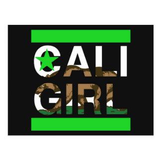 Caliの女の子Repの緑 ポストカード