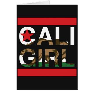Caliの女の子Repの赤 カード