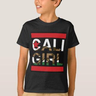 Caliの女の子Repの赤 Tシャツ