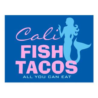 Caliの魚タコス ポストカード