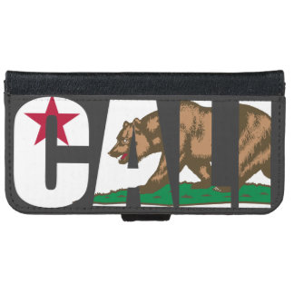 Caliカリフォルニアの旗 iPhone 6/6s ウォレットケース
