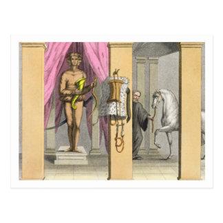 Caligulaの馬、Incitata、c.1800-の馬小屋 ポストカード
