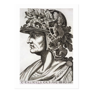 Caligulaシーザー(12-41広告)、1596年(版木、銅版、版画) ポストカード