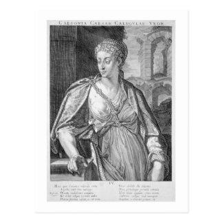Caligula (版木、銅版、版画)のCaesoniaの妻 ポストカード