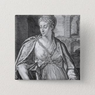 Caligula (版木、銅版、版画)のCaesoniaの妻 5.1cm 正方形バッジ