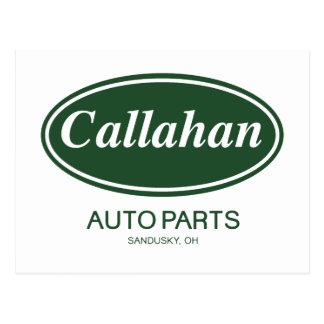 Callahanの自動車部品 ポストカード