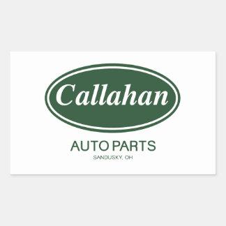 Callahanの自動車部品 長方形シール・ステッカー