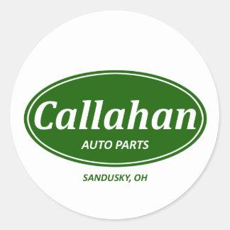 Callahanの自動車 丸形シール・ステッカー
