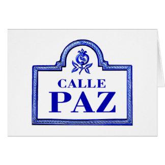 Calleパ、グラナダの道路標識 カード