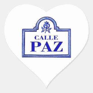 Calleパ、グラナダの道路標識 ハートシール