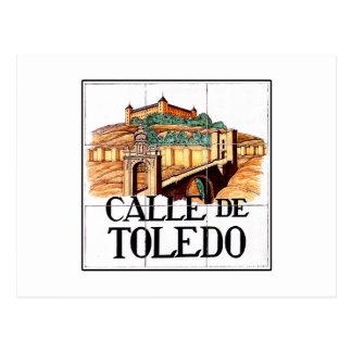 Calle deトレド、マドリードの道路標識 ポストカード