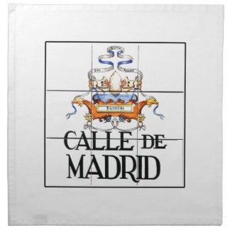 Calle deマドリード、マドリードの道路標識 ナプキンクロス