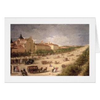 Calle de Alcala、マドリード(キャンバスの眺めの油 カード