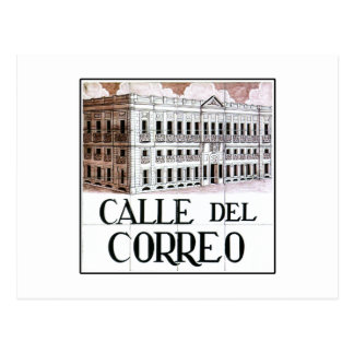 Calle del Correoのマドリードの道路標識 ポストカード