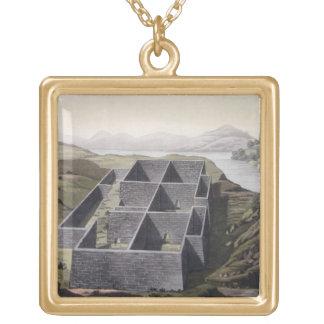 Callo、「Leからのペルーのインカ人宮殿の残物、 ゴールドプレートネックレス