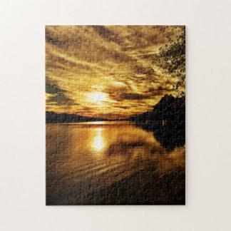 Caloosahatcheeの川の日没のパズル ジグソーパズル